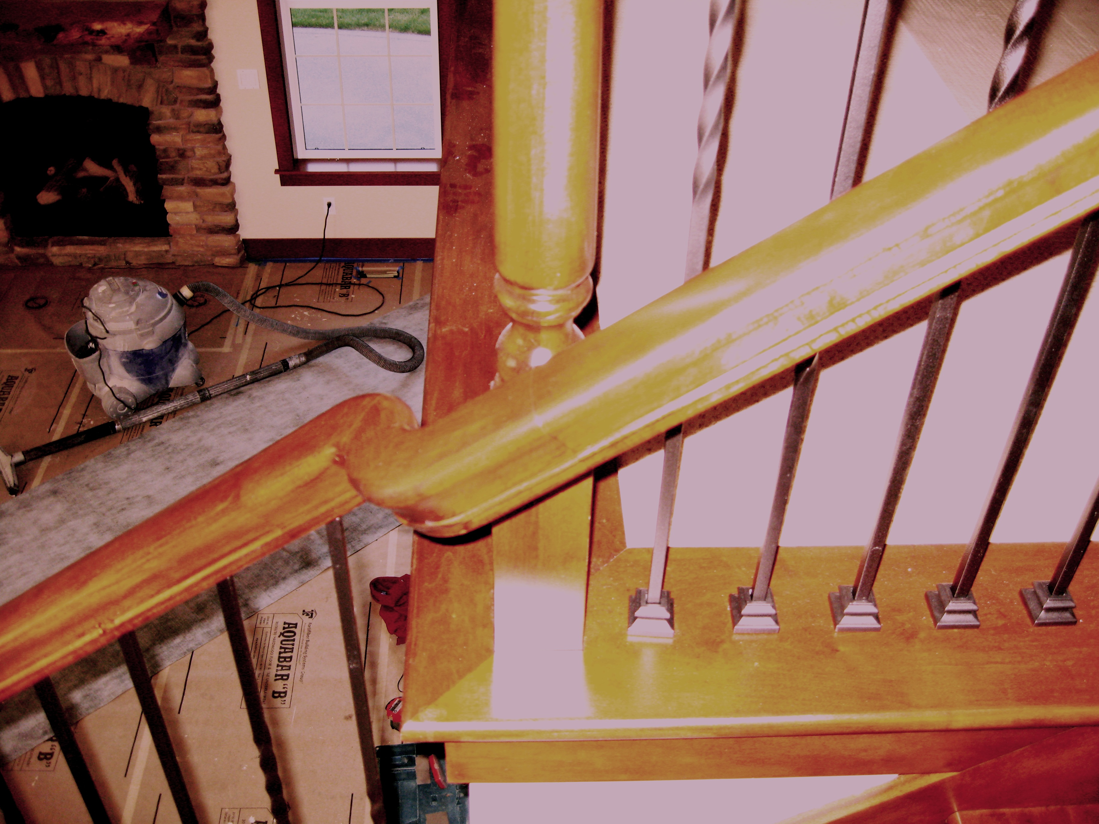 how to restain stair rail ask home design